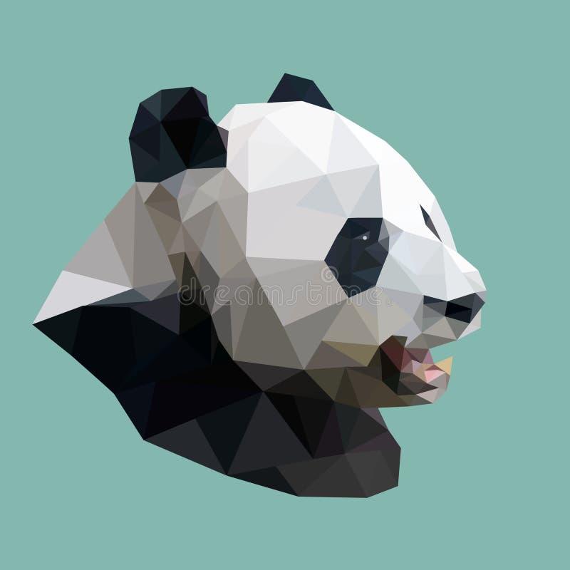 Panda polygonal, animal géométrique abstrait de polygone, vecteur illustration de vecteur