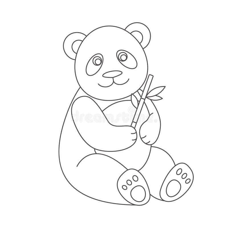 Panda pour livre de coloriage illustration de vecteur