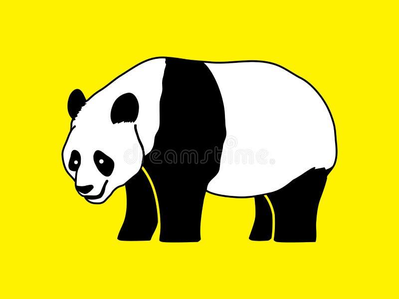 Panda que coloca vista lateral ilustración del vector