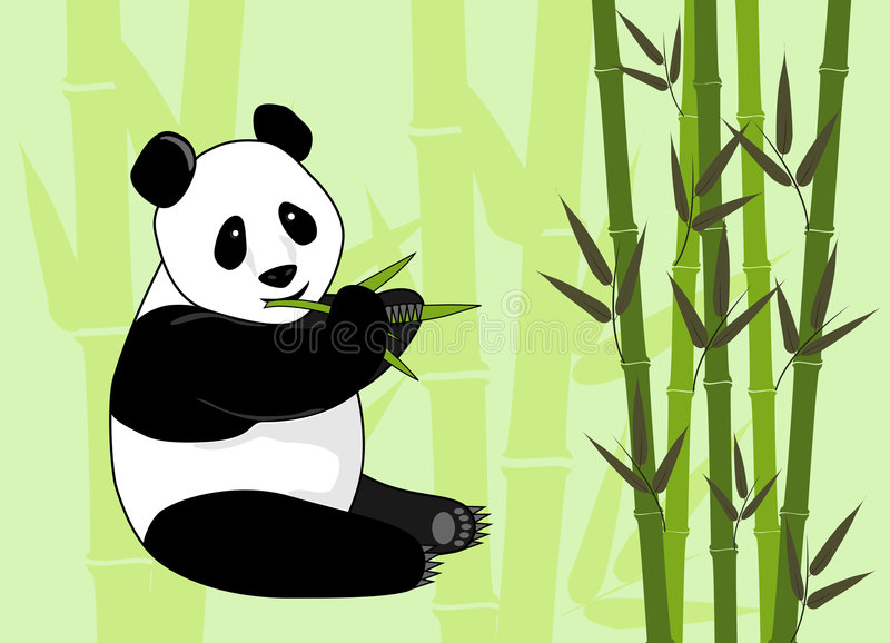 Panda que come el bambú libre illustration