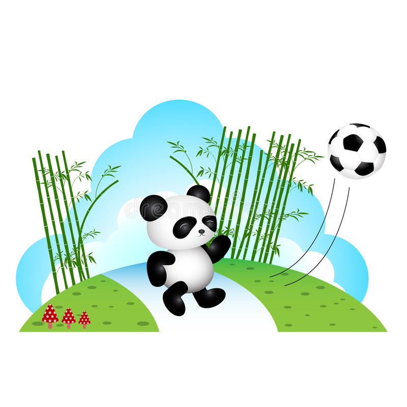 Panda que juega a fútbol libre illustration