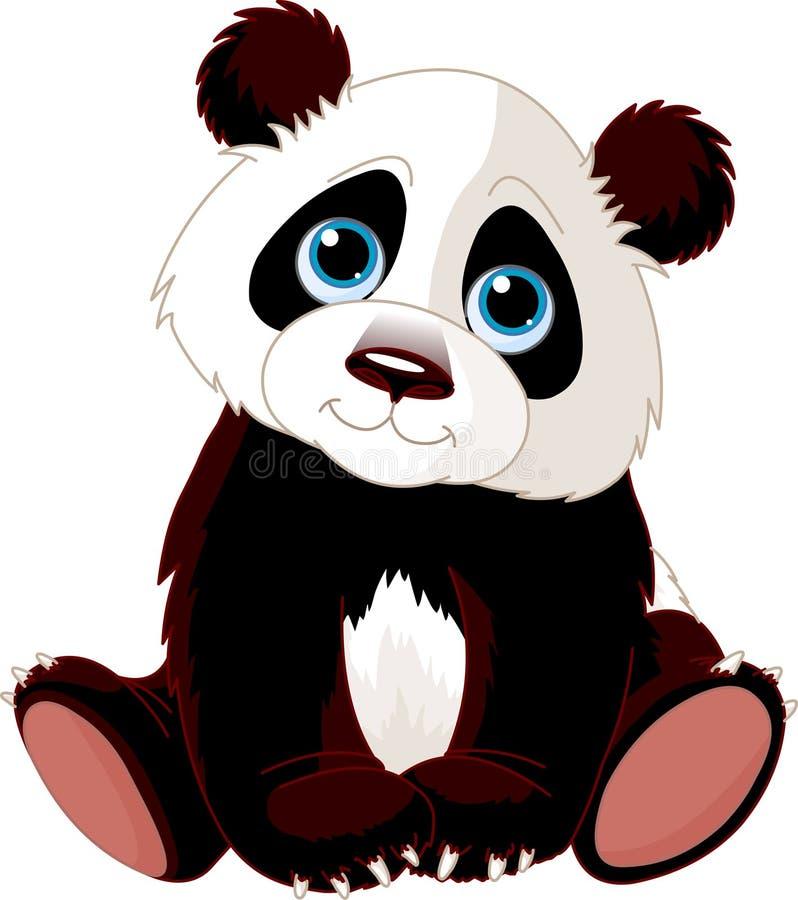 Panda que se sienta