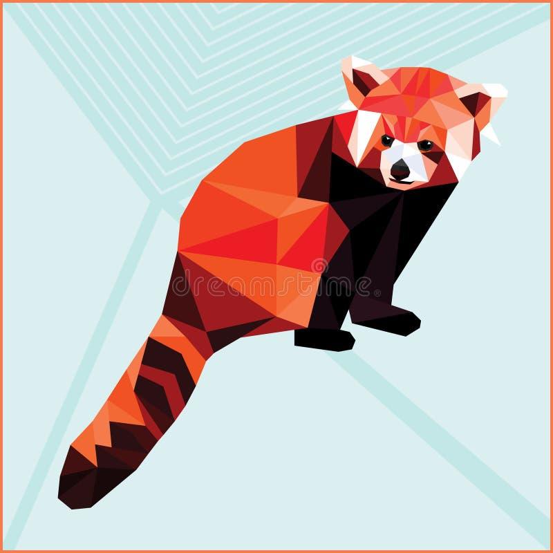 Panda roja del polígono ilustración del vector