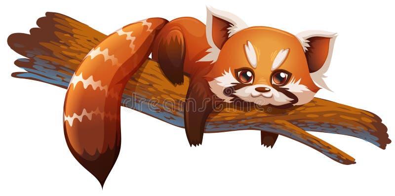 Download Panda rosso sveglio illustrazione vettoriale. Illustrazione di clip - 55362424