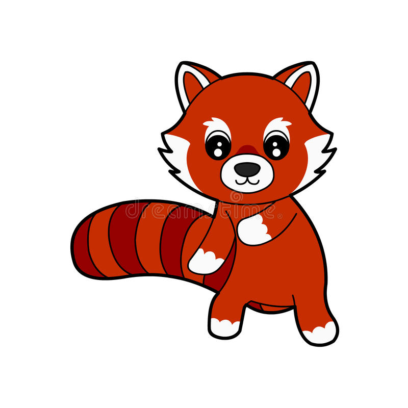 Panda rouge mignon illustration libre de droits