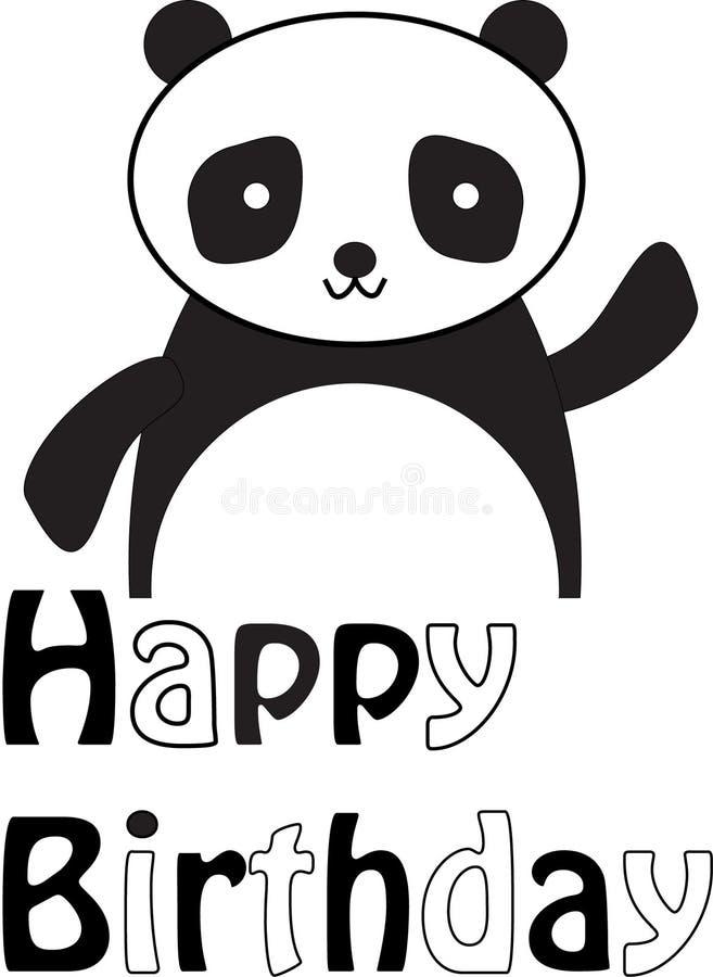 Panda` s Gelukkige Verjaardag royalty-vrije stock foto