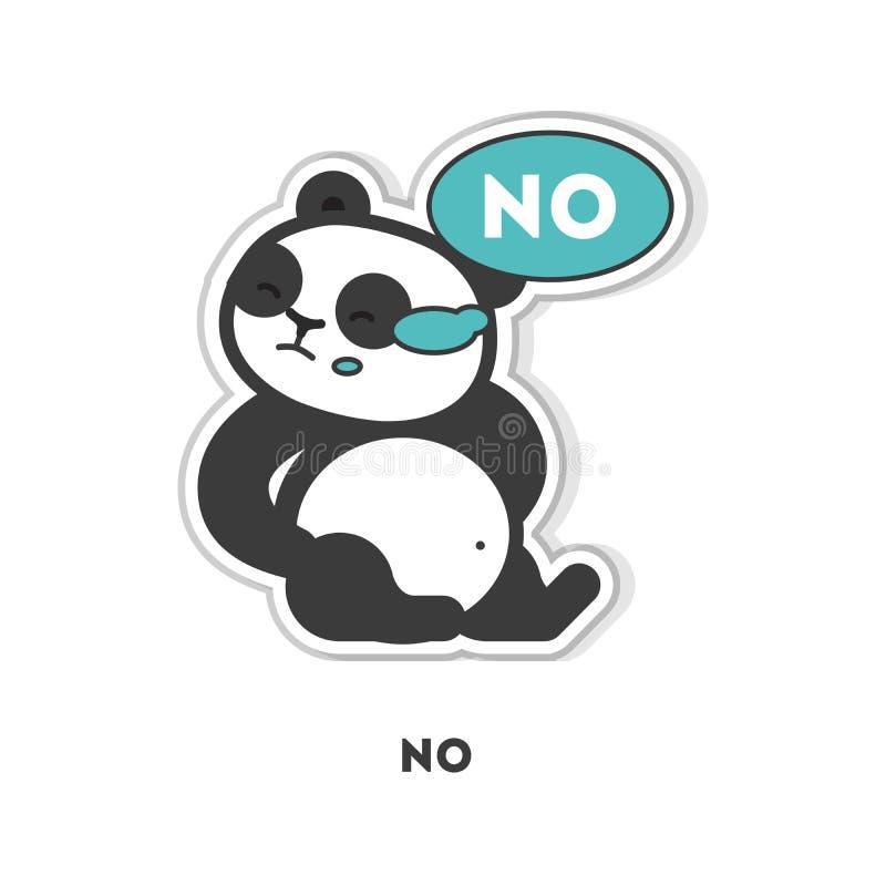 Download Panda sagt nein vektor abbildung. Illustration von bär - 90227145