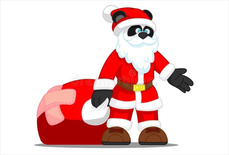 Panda Santa stock afbeeldingen