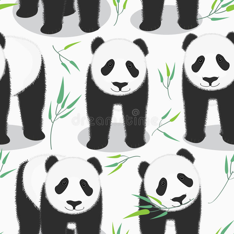 Panda Seamless Pattern royalty illustrazione gratis