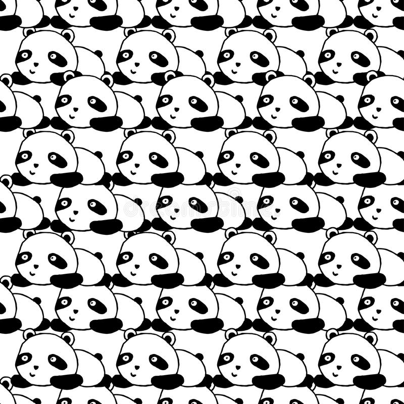Panda Seamless Pattern illustration stock