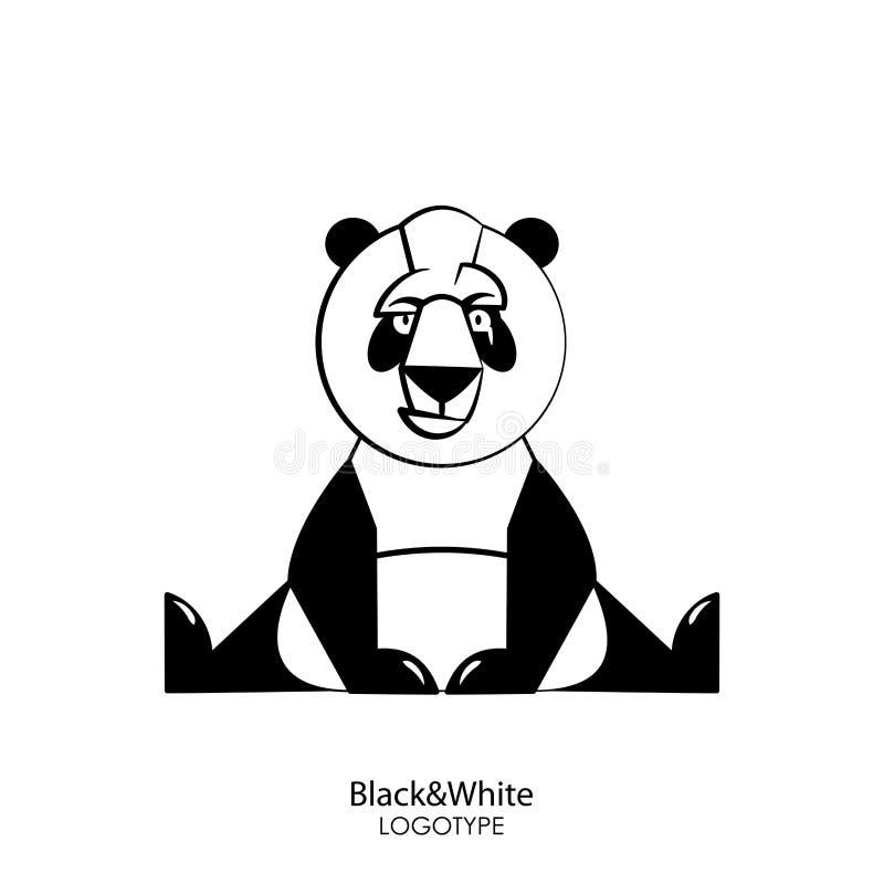 Panda selvaggio divertente illustrazione vettoriale