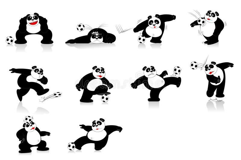 Panda Soccer Style royalty-vrije stock afbeeldingen