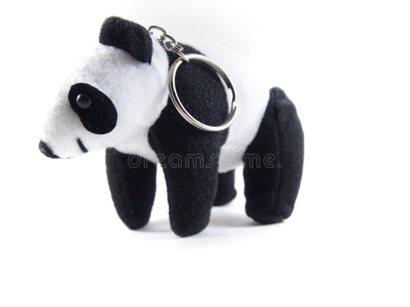 Panda Solf, χαριτωμένη κούκλα με το μπρελόκ μετάλλων στοκ φωτογραφίες