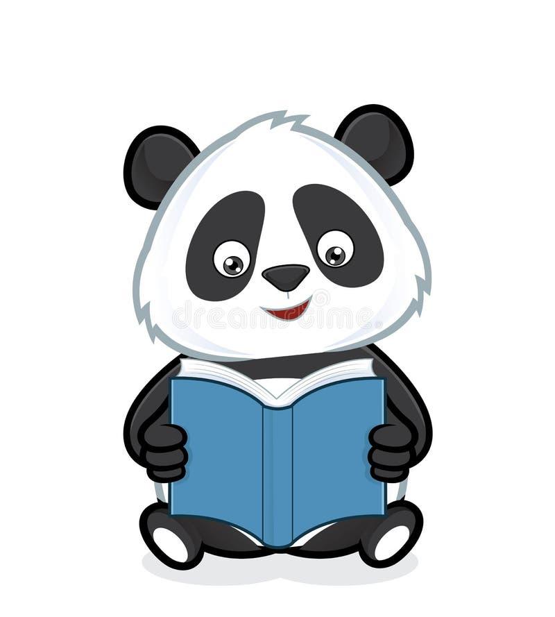 Panda som läser en bok