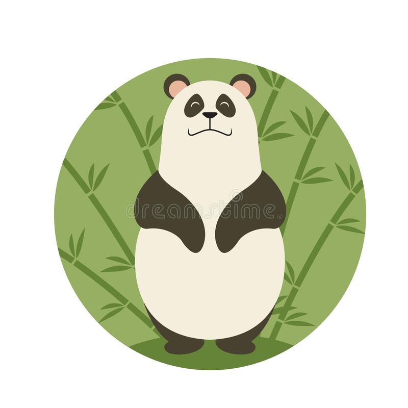Panda sonriente stock de ilustración
