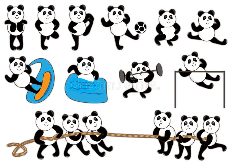 Download Panda Spot Set_eps stock vector. Illustration of card - 24246422