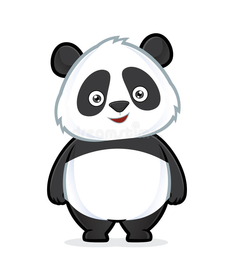 Panda standing stock illustration