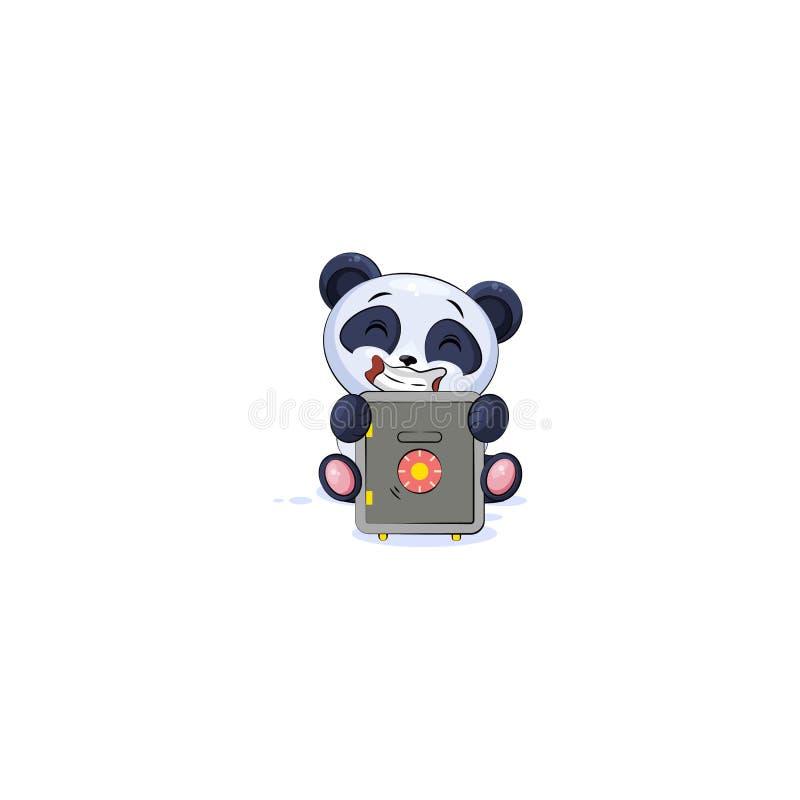 Panda Sticker Emoticon Jump For Joy Money Stock Vector