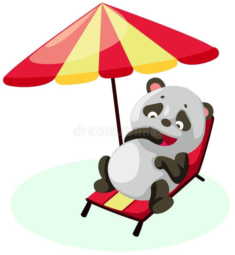 Panda sur la plage illustration libre de droits