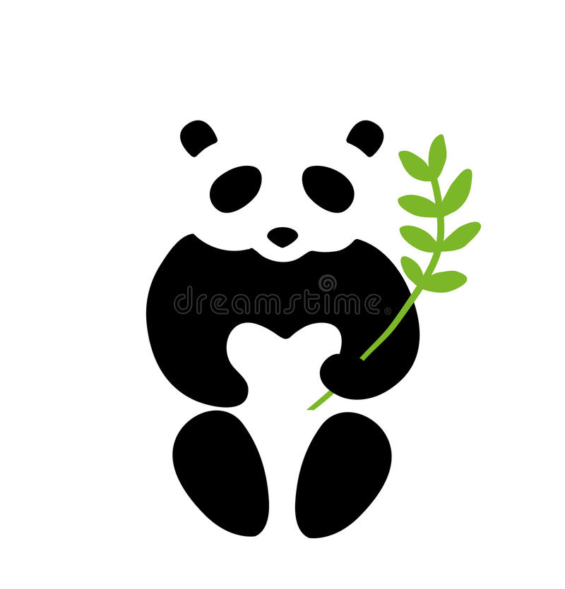Download Panda symbol stock vector. Illustration of icon, branch - 42309948