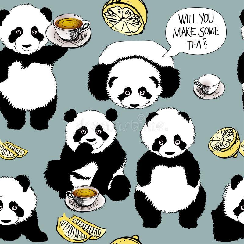 A panda tem um frio ilustração do vetor