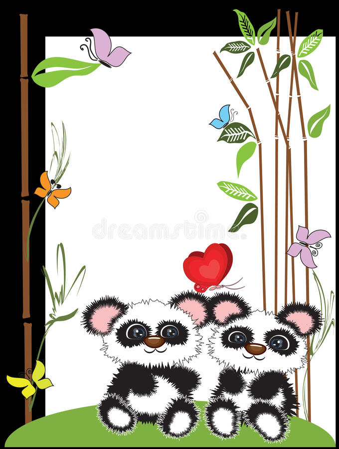 Panda, trame illustration stock