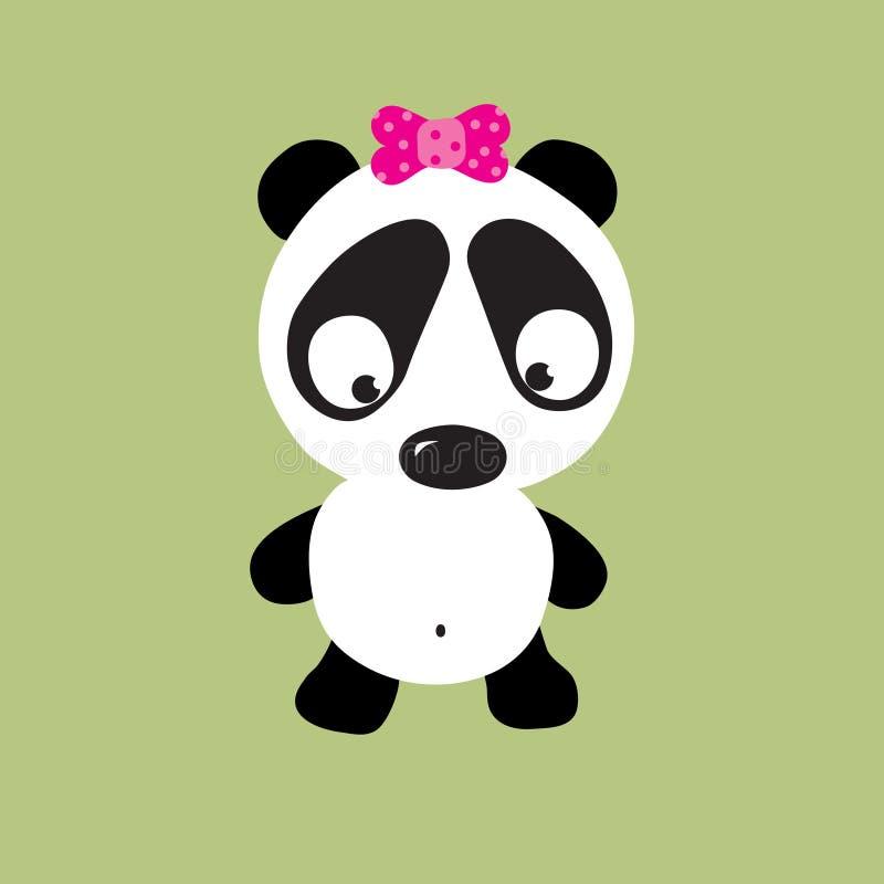Panda triste illustration stock