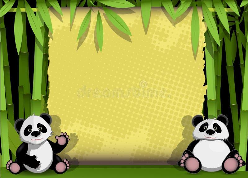 Panda två vektor illustrationer