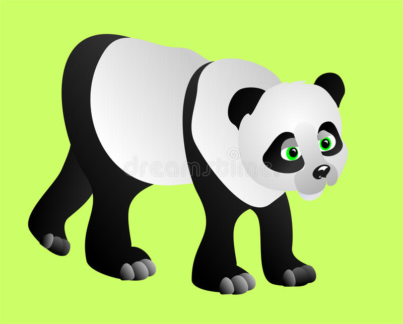 Download Panda, vector illustration stock vector. Image of mammal - 12932804