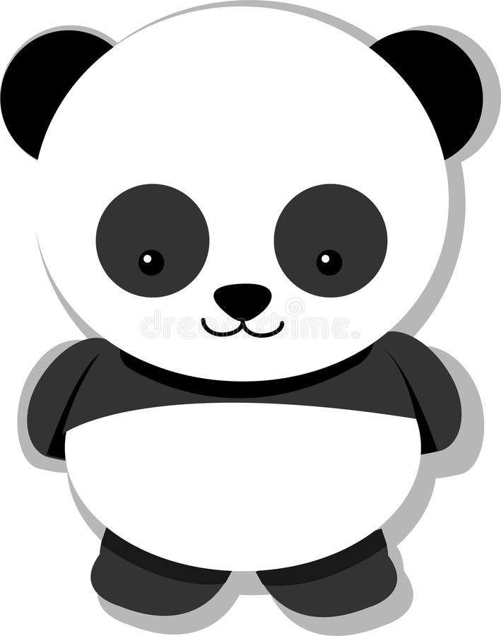 Panda royalty free illustration