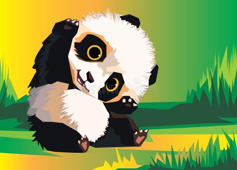 Panda vector white bear nature animal vector illustration