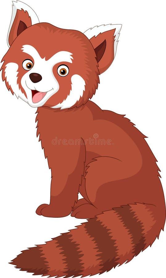 Panda vermelha dos desenhos animados ilustração royalty free