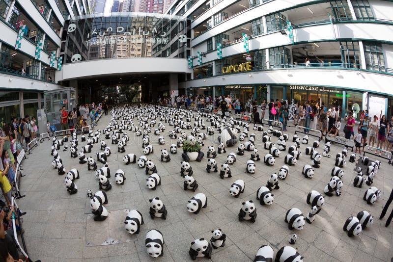 1600 Panda-Welttournee in Hong Kong stockfoto