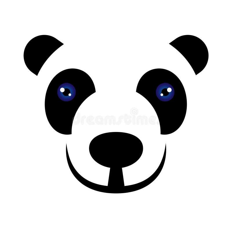 Pandabärn-Vektorillustrations-Art Ebene lokalisierte Symbol lizenzfreie abbildung