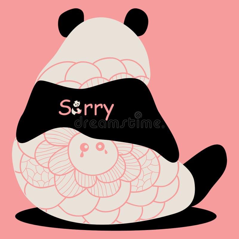 Pandabesvär royaltyfri illustrationer