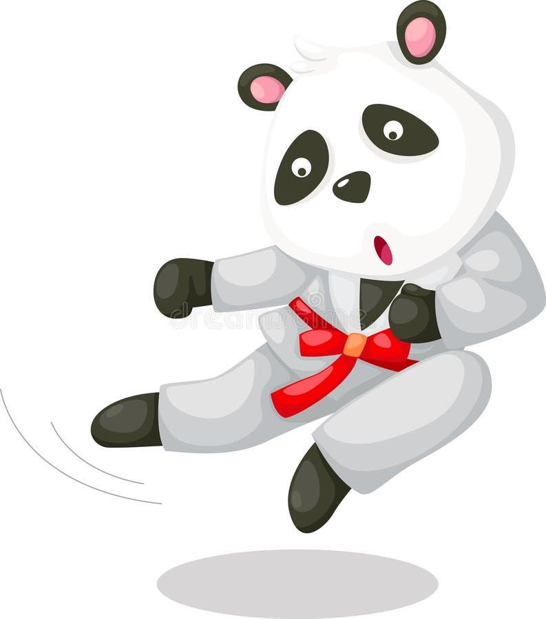 Pandakarate royaltyfri illustrationer