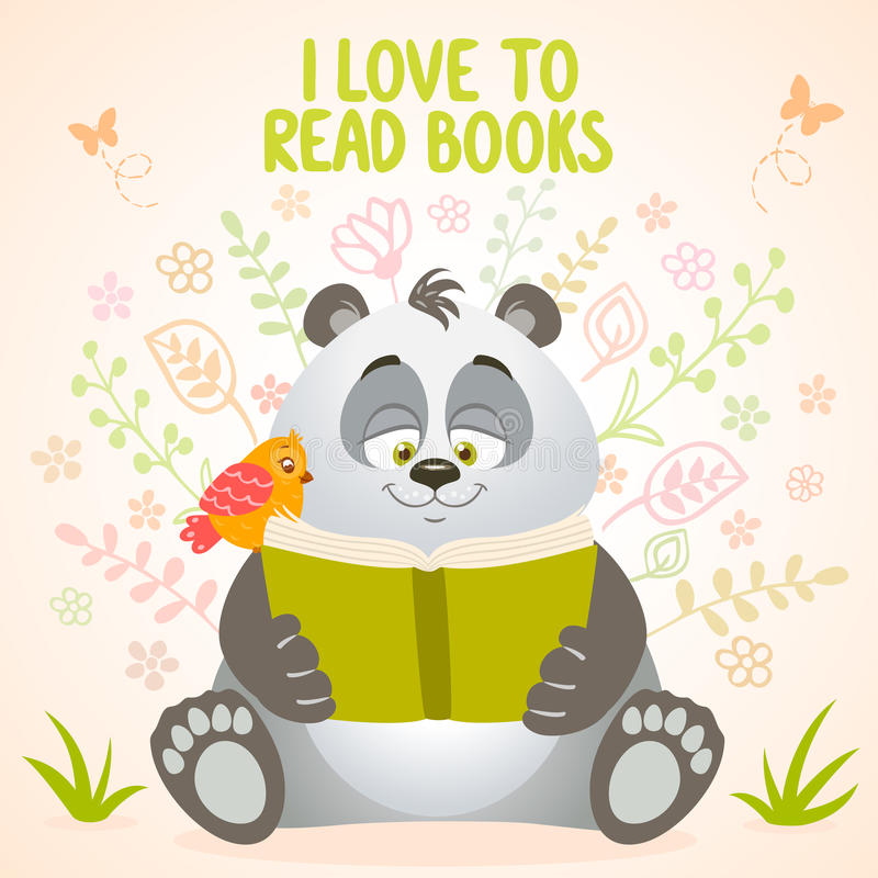 Pandan läser vektor illustrationer