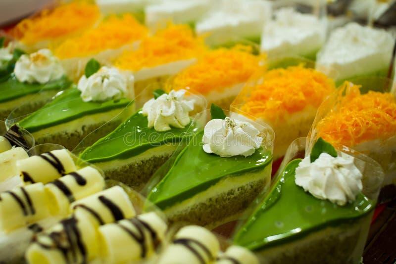 Pandancake en andere cakes royalty-vrije stock afbeelding