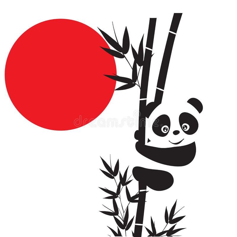 Pandas ilustração do vetor