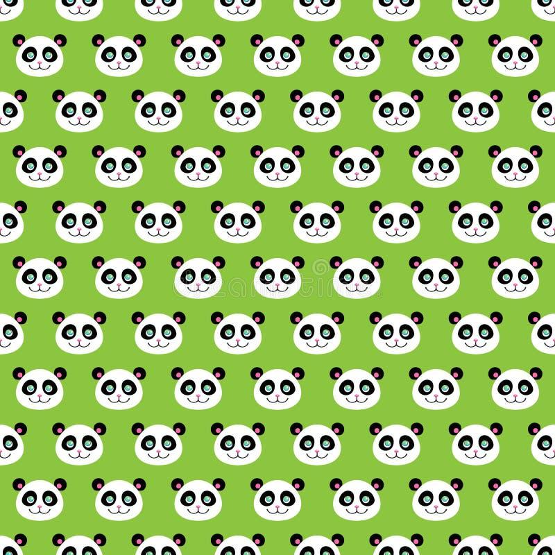 Pandas de sourire illustration de vecteur