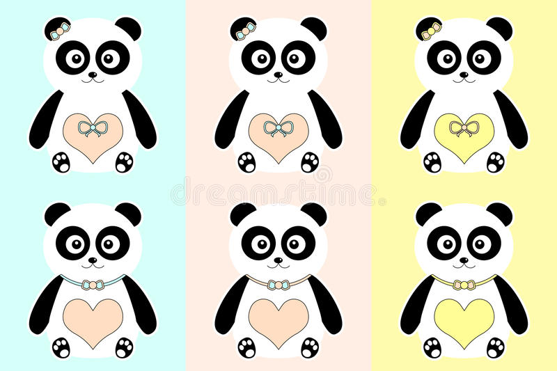 Pandas lindas. libre illustration