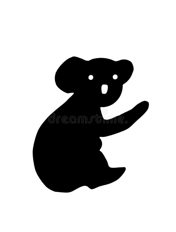 pandasilhouette vektor illustrationer
