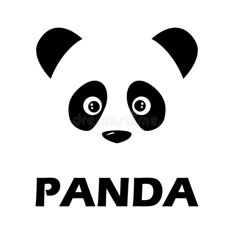 Pandatecken royaltyfri illustrationer