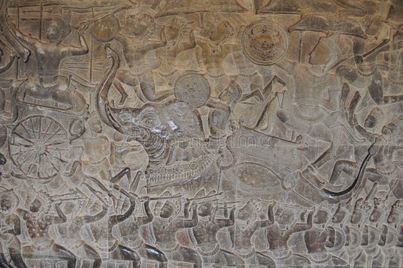 Pandava krigare på Angkor Wat royaltyfria bilder