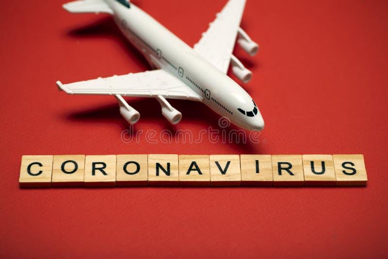 Pandemia koronawirusa Zakaz lotów i zamknięte granice dla turystów i podróżnych z koronawirusami convi19 z Europy i Azji obraz stock
