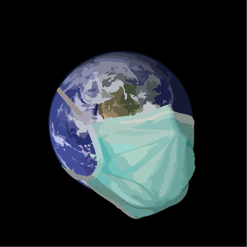 Pandemic aarde stock illustratie