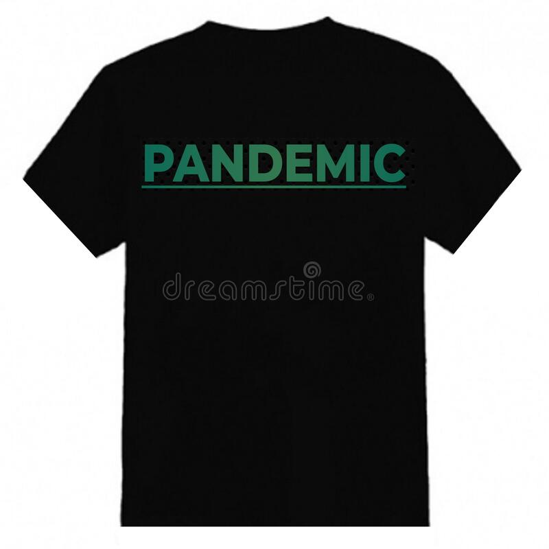 Pandemic t-shirt design is simple and elegant royalty free stock photo