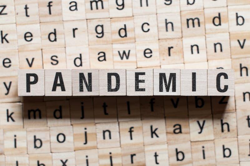 Pandemisches Wortkonzept lizenzfreies stockbild