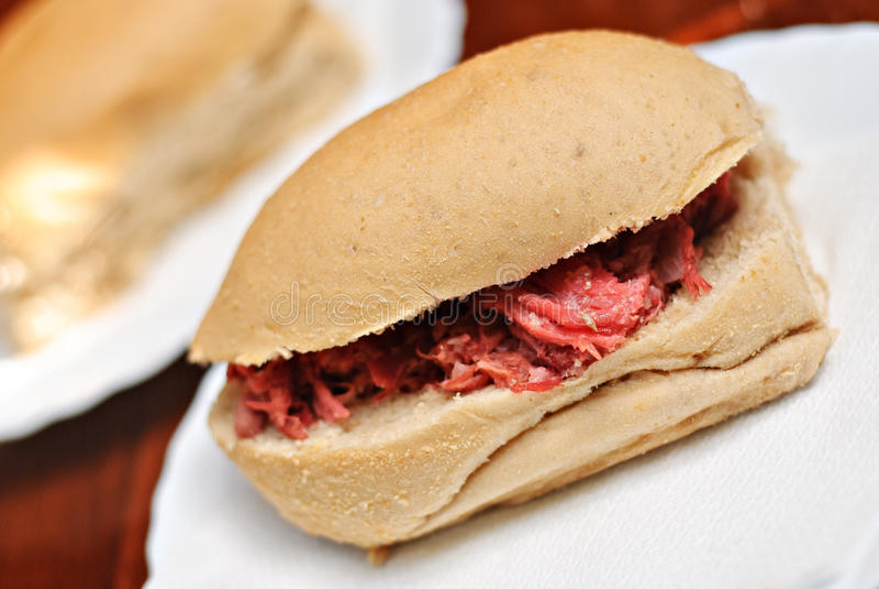 Pandesal asiatisches Brot-Brötchen-Sandwich stockbild