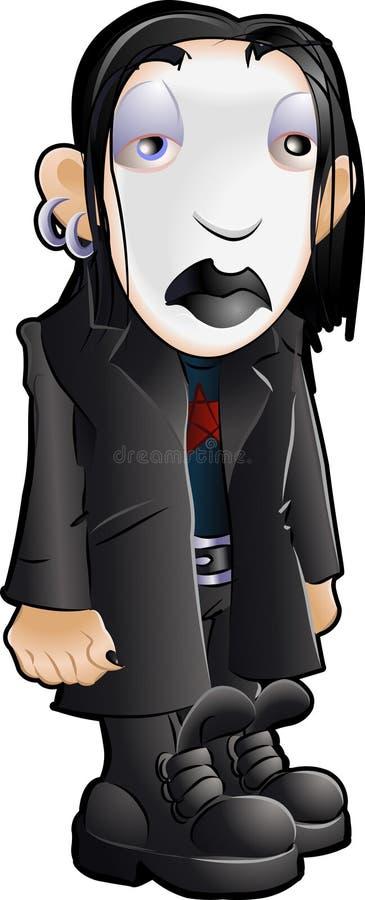 Pandillas adolescentes Goth de la juventud libre illustration